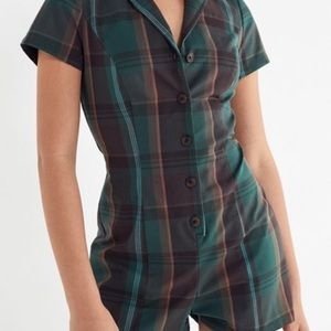 Urban Outfitters Plaid Romper M